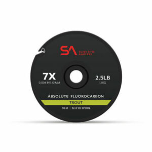 SCIENTIFIC ANGLERS ABSOLUTE FLUOROCARBON TROUT TIPPET 30M 4X 6.7 LB SPOOL