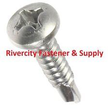 (100) #8 x 1  Phillips Pan Head Self - Drilling TEK Screws 410 Stainless Steel
