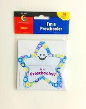 I'm a Preschooler kids Name Badge Stickers for Preschool Class