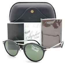 NEW Persol sunglasses PO3166 95/31 51mm Black Classic Grey Round AUTHENTIC 3166