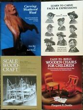 WOOD - Carving, Scale-Wood Craft, Children's Wooden Chairs - Lot of Four (4)