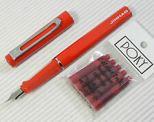 JINHAO 599 Fountain pen RED + 5 POKY cartridges RED ink