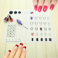 Hot Nail Art Soft Silicone WorkSpace Stamping Plate Transfer Mat Sheet Table