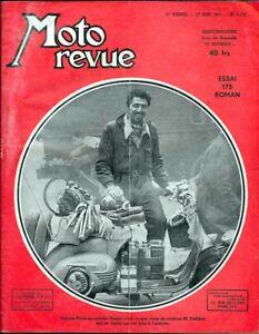 MOTO REVUE . N° 1142 . 27 juin1953 . Essai AMC 175 Roman .