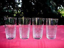 BACCARAT NANCY 4 WINE CRYSTAL GLASSES GOBELETS A VIN CHAMPAGNE CRISTAL ART DECO