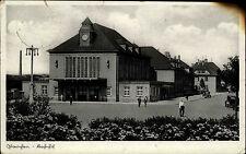 Glauchau Sachsen 1937 Bahnhof und mit Landpoststempel nach Burgstädt gelaufen