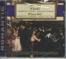 Music CD Romantic Verdi Highlights Aida Puccini Highlights La Boheme Sealed