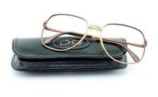 Rodenstock Glasses Model Hendrik Savanna 70s Vintage Metal Square Gentleman M-L
