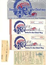 Santa Fe the Chief Way Coach Reservation Coupon and so on 1948, 1956 US  美钞