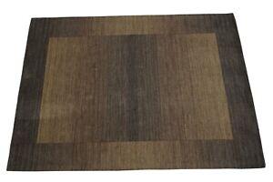 Carpet 100% Wool Dark Olive Green Braun 160x230 CM Oriental Rug HT311