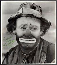 EMMET KELLY - Iconic clown - Signed 1956 photo