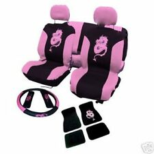 13pc Dragon Funda De Asiento Set Car Mats Volante Cubre Set Completo Interior Rosa