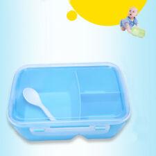 3 Compartments Lunch Box Bread Box Breakfast Box-Lunch Box+Spoon Convenient
