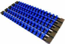 "5 GOLIATH INDUSTRIAL 3/8"" ABS MOUNTABLE SOCKET RAIL HOLDER ORGANIZER BLUE SH38BB"