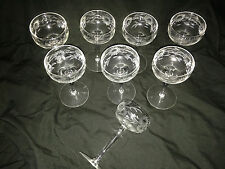 (8) ELEGANT STEMWARE BARWARE LIQUOR ETCHED SUNFLOWERS FLORAL