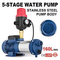 High Pressure Garden Water Pump Multi Stage Irrigation Rain Tank 2500W