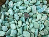 3000 Carat Lots of Polished Tumbled Amazonite + FREE Faceted Gemstone