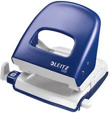 LEITZ 5008 Bürolocher blau m. Schiene f. 30 Blatt Locher Metall 5008-00-35 NEU
