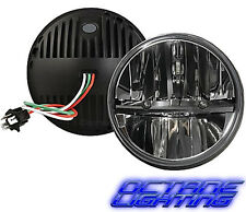 "Octane 7"" inch Round Chrome Black Dual Low/Hi HID LED Daymaker Headlights Pair"
