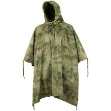 MILITARY STYLE RIPSTOP WATERPROOF RIPSTOP HOODED PONCHO  MIL-TACS FG CAMO