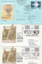 Australia: 8 diff. First Flight Covers (incl.Png,Norfolk roundfl)/1975-1989/See!