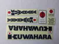 Nos Old School BMX Decal Sticker KUWAHARA KZ 1 2 KYZ Laserlite frame fork JAPAN