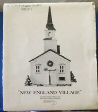 Department 56 Cape Steeple Church, Version 1, Retired New England Village 65307.