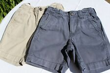 Two Pairs of Used Gap Kids Cotton Shorts, 5 Years, Blue & Beige