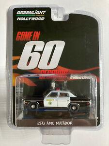 Greenlight 1:64 AMC Matador 1973 Sheriff Gone in 60 Seconds Police