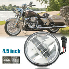 """Chrome Motorcycle 4.5"""" LED Fog Auxiliary Passing Spot Lights For Harley Touring"""