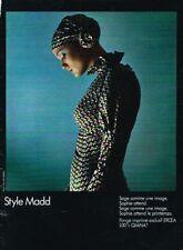 B- Publicité Advertising 1970 Pret à porter Vetement Style Madd par Guy Bourdin