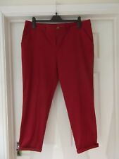 Chinos by TU Red Wine Smart Trousers with Pockets & Tapered Leg UK Size 16