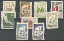 1957 TURKEY RED CRESCENT KIZILAY CHARITY STAMPS COMPLETE SET MNH  LUX NURSE FLAG