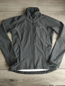 Ladies Adidas Climaproof Black Zip Up Slim Fit Polyester Jacket Size 10