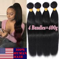 8-30 Inch Brazilian Virgin Human Hair Extensions Weave Weft US Sale 4 Bundles P2