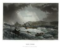 South Africa Cape Horn Shipwreck 1852 gorgeous engraved hand colored print