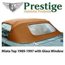 Mazda Miata Na Tan Glass Window Convertible Top Soft Top Tops Roof 1989 1997 Fits Mazda Miata