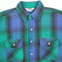Vtg FIVEBROTHER Mountain Twill Flannel Shirt L Trucker Grunge Distress USA Made