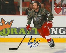 DAN CLEARY signed DETROIT RED WINGS 8X10 CAMO PHOTO COA