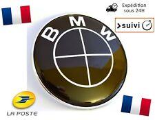 Logo BMW 82mm Coffre Capot Série 1 3 5 7 E39 E46 E90 E60 E92 X3 X5 X6 M3 M5 Noir