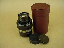 Leica 90mm f/4 Fat Elmar 9cm Leitz black Lens w/Red case-No Serial Number- RARE