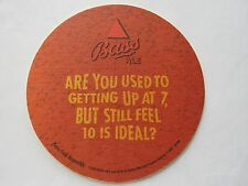 Bass Beer Coaster:  Used To Getting Up At 7 ~ Still Feel 10 Is Ideal? Since 1777