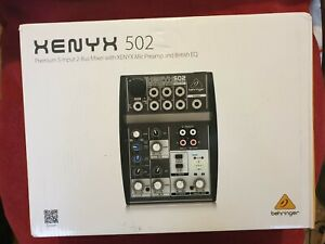 Behringer 502 Premium 5-Input Mixer with XENYX Mic Preamp