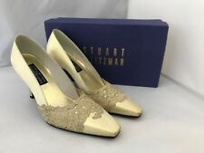 3ea1910279096 Stuart Weitzman Russell   Bromley Ladies Charisma Gold Court Shoes Lace UK  6.5
