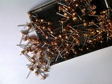 VTG 50 BRASS / STEEL BALL POST LOOP EARRING FINDING 4mm #022719o