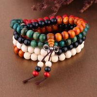 216 Sandalwood Buddhist Buddha Meditation 6mm Prayer Bead Mala Bracelet Necklace