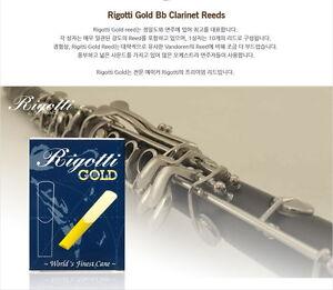 Rigotti Gold Bb Clarinet Reeds # 2 1/2 , Box of 10~FREE SHIPPING~