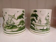 ISIS Ceramics  Deborah Sears Pair Of Beaker Vases. Monkey Collection Green...