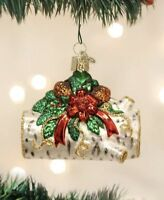 OLD WORLD CHRISTMAS YULE LOG FIREWOOD GLASS CHRISTMAS ORNAMENT 36067
