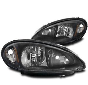 FOR 01 02 03 04 05 CHRYSLER PT CRUISER REPLACEMENT HEADLIGHT HEADLAMP LAMP BLACK